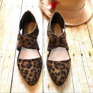 New! Leopard Print Criss Cross Oxford Slip On